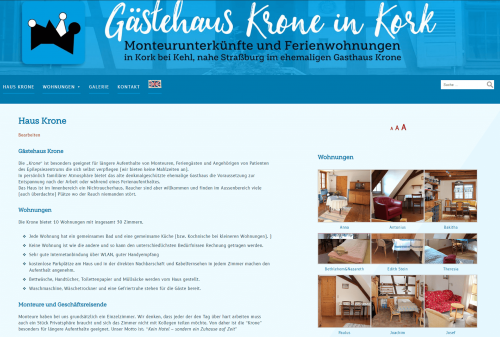 Website Krone WordPress 2020